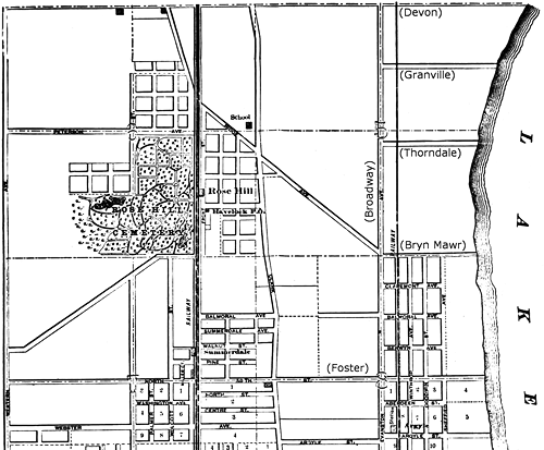 1885 Map Showing Edgewater Section of Lake View Township