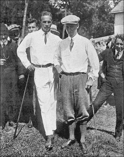 Chick Evans and Robert Gardner 1916