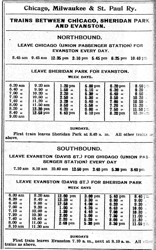 1900 timetable